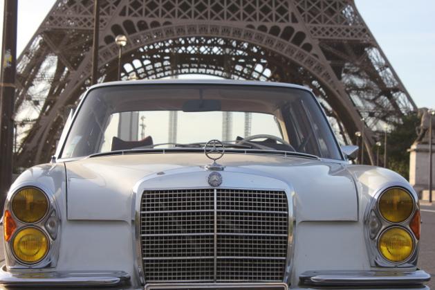 Mercedes Eiffel Tower : Mercedes se w paris balade