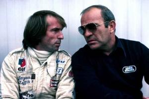 Guy Ligier avec Jacques Laffite