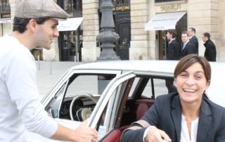 Balade Rive Droite en Mercedes 280 SE avec Chauffeur Guide