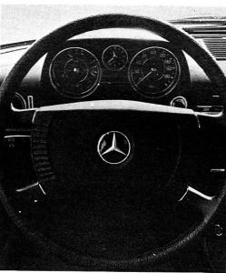Mercedes W115 tableau de bord