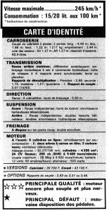 Caracteristiques Jaguar Type E