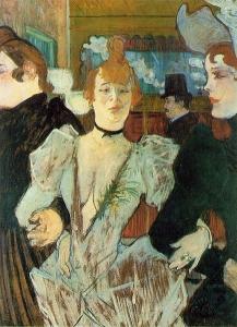 La Goulue arrivant au Moulin rouge Toulouse Lautrec