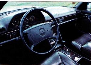 Tableau de bord Mercedes 560 SEL