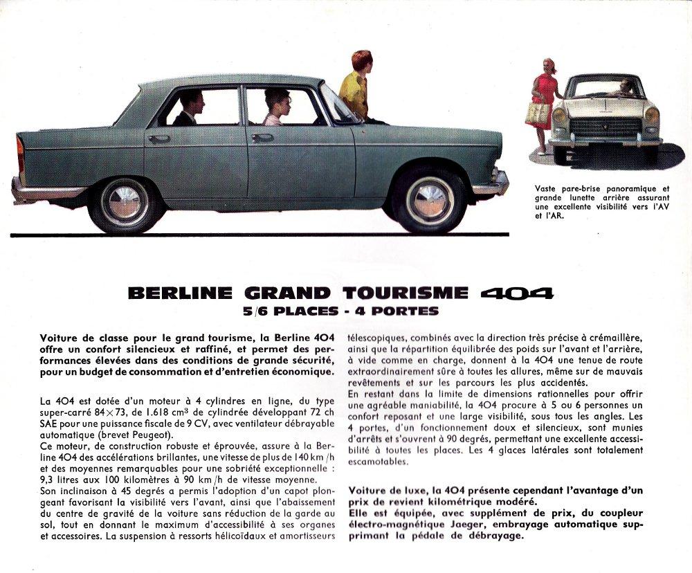 Brochure Peugeot 404 p2