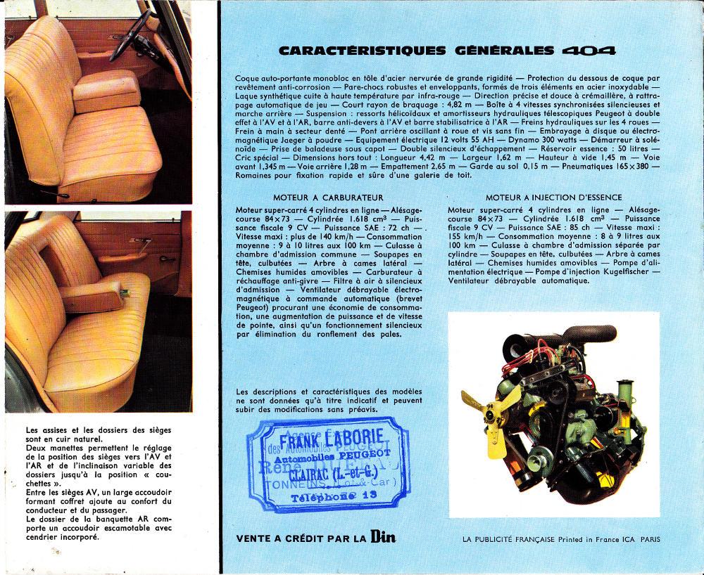 Brochure Peugeot 404 p6