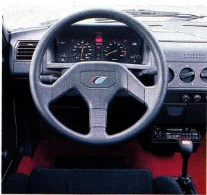 Peugeot 205 Rallye tableau de bord