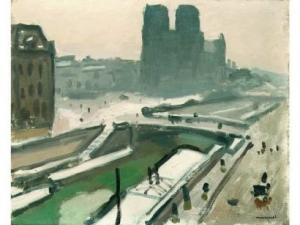 Hiver sur le pont St Michel (1908-1909)