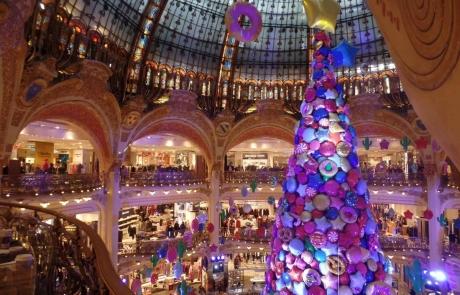 Les Galeries Lafayette à Noël