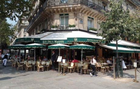 Les Deux Magots au cœur du quartier de Saint-Germain-des-Prés