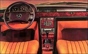 Mercedes w116 intérieur
