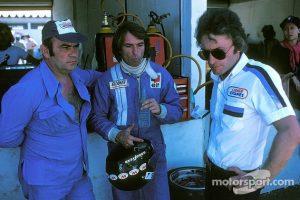 Jacques Laffite Guy Ligier et Gerard Ducarouge au GP du Bresil 1976