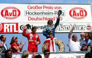 Laffite podium Allemagne 1980
