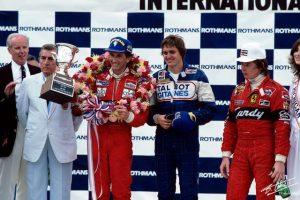 Eddie Cheever podium Belgique 1982