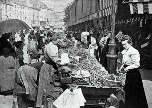 Marche rue Mouffetard 1896