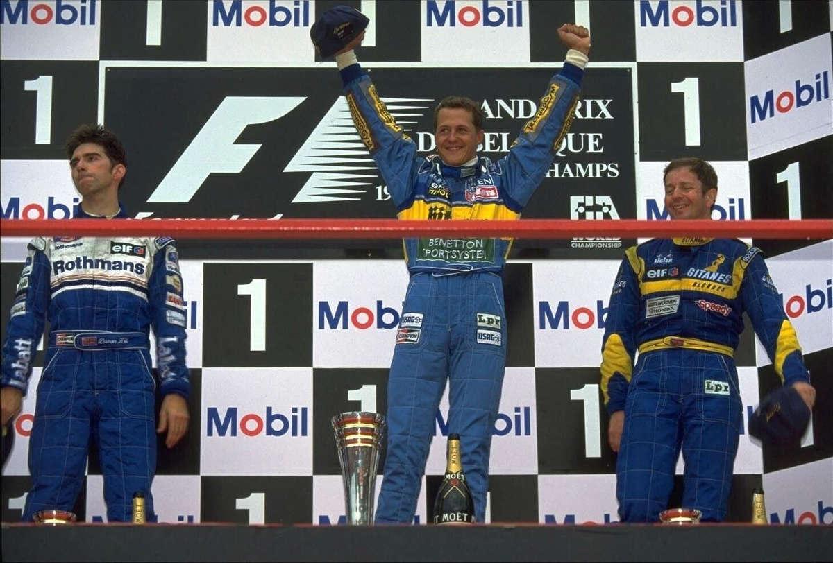 Martin Brundle podium Belgique 1995