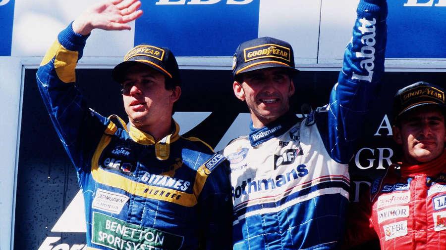 Olivier Panis podium Australie Ligier 1995