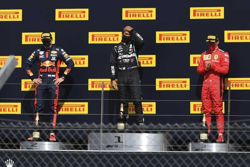 GP Angleterre 2020 podium