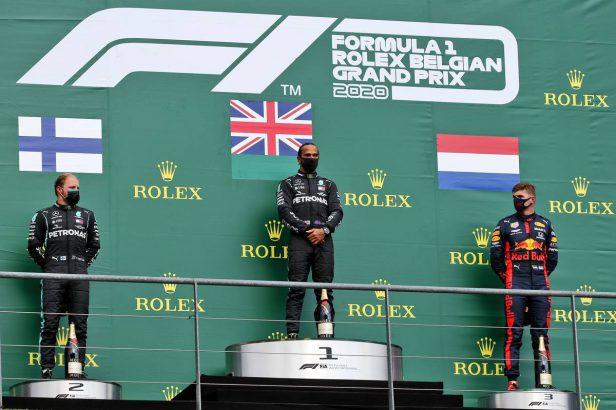 podium grand prix belgique 2020