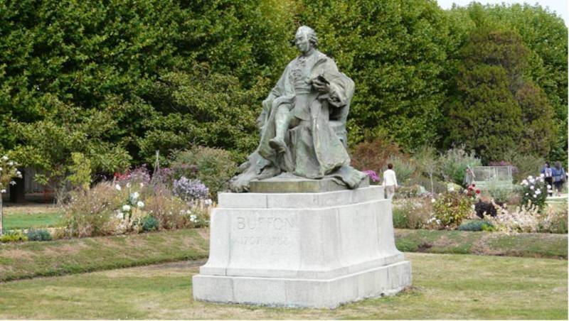 statue Buffon jardin des plantes
