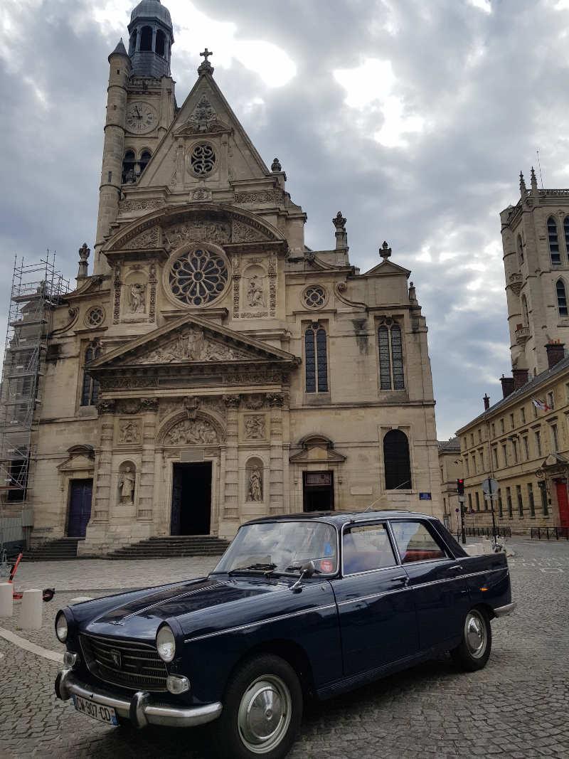 Peugeot 404 eglise saint etienne du mont
