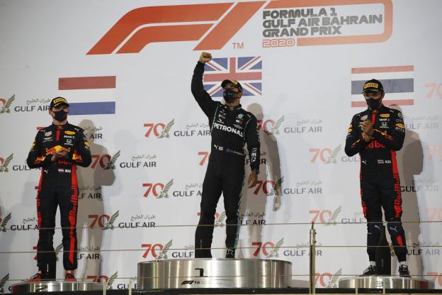 podium Grand Prix Bahrein 2020