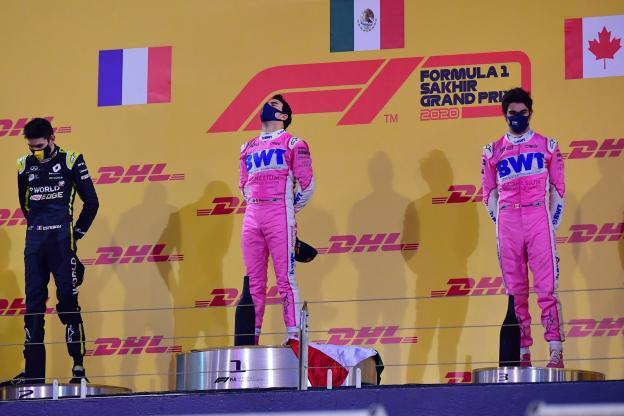 podium Grand Prix Sakhir 2020