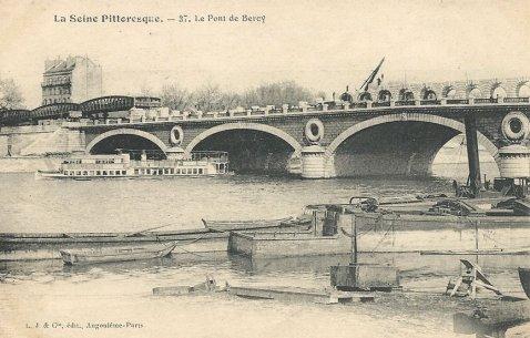 elargissement du pont de bercy pour le metro
