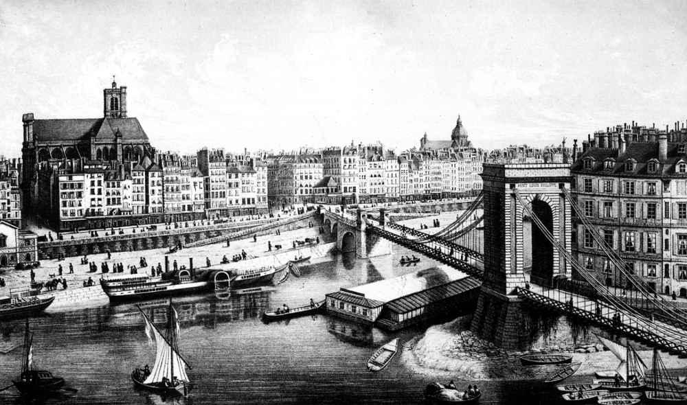 pont louis philippe vers 1840