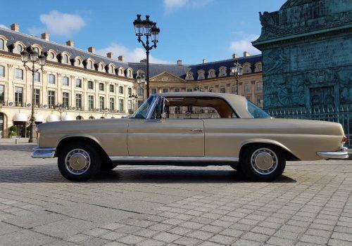 Mercedes 280se coupe visiter paris